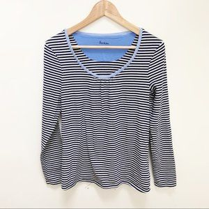 Anthro Boden striped long sleeves blouse 10
